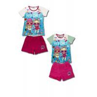 Tričko a kraťasy LOL Surprise , Velikost - 116 , Barva - Bílo-růžová