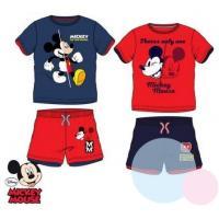 Tričko a kraťasy Mickey , Barva - Červeno-modrá , Velikost - 116