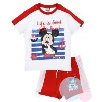 Tričko a kraťasy Mickey , Barva - Bielo-červená , Velikost - 98