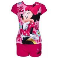 Tričko a kraťasy Minnie , Velikost - 110 , Barva - Tmavo ružová