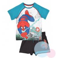 Tričko a kraťasy SPIDERMAN , Velikost - 98 , Barva - Světlo modrá