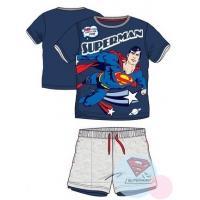 Tričko a kraťasy Superman , Velikost - 98 , Barva - Tmavo modrá