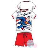 Tričko a kraťasy Superman , Velikost - 98 , Barva - Bielo-červená