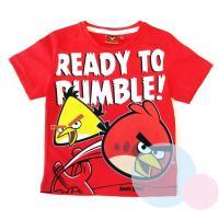 TRIČKO Angry Birds , Velikost - 104 , Barva - Červená