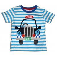 Tričko Auto Polícia , Barva - Světlo modrá , Velikost - 92