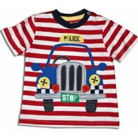 Tričko Auto Policie , Barva - Červená , Velikost - 74