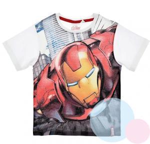 Tričko Avengers Iron Man , Barva - Biela , Velikost - 104