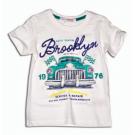Tričko Brooklyn , Velikost - 74 , Barva - Biela