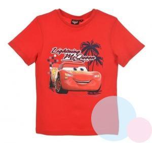 TRIČKO CARS , Velikost - 128 , Barva - Červená