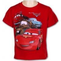 TRIČKO CARS , Velikost - 140 , Barva - Červená