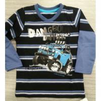 Tričko Dangerous , Velikost - 104 , Barva - Modro-černá
