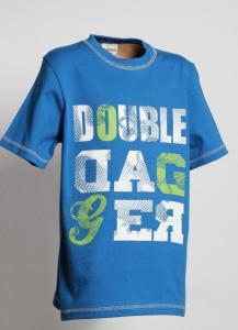 Tričko DOUBLE , Barva - Modrá , Velikost - 122