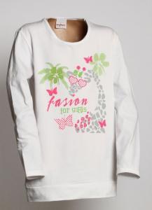 Tričko FASION , Velikost - 122 , Barva - Biela