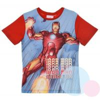 Tričko Iron-man , Barva - Červená , Velikost - 140