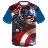 Tričko Kapitán Amerika , Velikost - 98 , Barva - Modrá