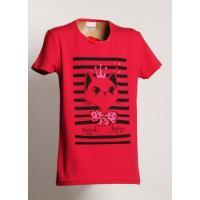 Tričko mačiatko , Velikost - 134 , Barva - Malinová