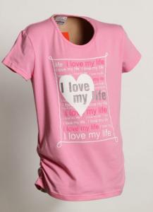 Tričko LOVE , Barva - Ružová , Velikost - 140
