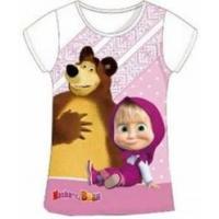 Tričko Máša a Medvěd , Velikost - 128 , Barva - Biela