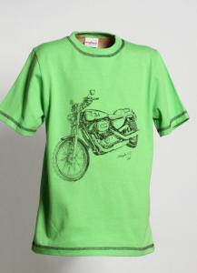 Tričko MOTORKA , Barva - Zelená , Velikost - 110