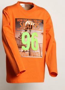 Tričko SKATERS , Velikost - 122 , Barva - Oranžová