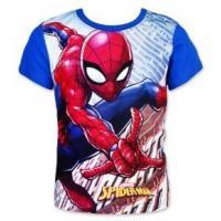 Tričko Spiderman , Velikost - 98 , Barva - Modrá