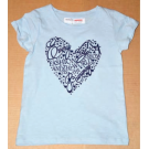 Tričko Srdiečko , Velikost - 104 , Barva - Světlo modrá