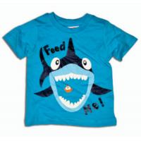Tričko žralok , Barva - Modrá , Velikost - 74