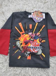 Tričko Bakugan s dlhým rukávom , Velikost - 104 , Barva - Grafit