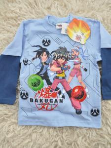 Tričko Bakugan s dlhým rukávom , Velikost - 104 , Barva - Světlo modrá