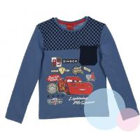 Triko Cars s kapsičkou , Barva - Modrá , Velikost - 116