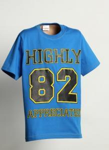 Triko Highly , Velikost - 134 , Barva - Modrá