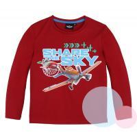 Tričko lietadla , Velikost - 98 , Barva - Červená