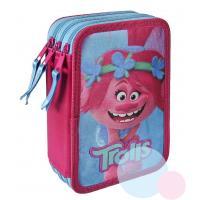 Trojposchodový peračník Trollovia Premium , Barva - Modro-růžová