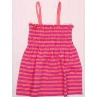 Tunika dievčenská , Velikost - 86/92 , Barva - Ružová s prúžkom
