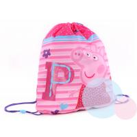 Pytlík na tělocvik Peppa Pig , Barva - Malinová