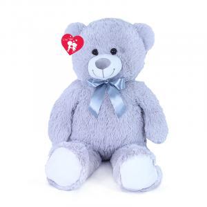 Velký plyšový medvěd Hugo 80 cm , Barva - Šedá