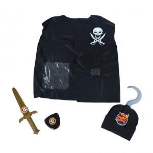 Vesta pirátska s príslušenstvom , Barva - Čierna
