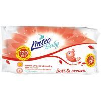Vlhčené obrúsky Linteo Baby 120 ks Soft and cream , Barva - Biela
