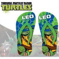 Žabky Korytnačky Ninja , Velikost boty - 34-35 , Barva - Zelená