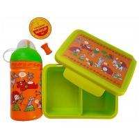 ZDRAVÁ FĽAŠA + box Rebelka , Velikost lahve - 0,5 L , Barva - Oranžovo-zelená