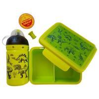 ZDRAVÁ FĽAŠA + box Dinosauři , Barva - Zelená , Velikost lahve - 0,5 L