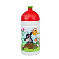 ZDRAVÁ FĽAŠA Krtko a jahody , Velikost lahve - 0,5 L , Barva - Bielo-červená