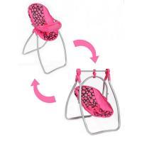 Židlička a houpačka 2v1 pro panenky PlayTo Isabella , Barva - Ružová