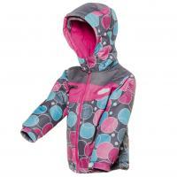 Zimná bunda , Velikost - 98 , Barva - Růžovo-modrá