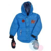 Zimná bunda a rukavice Cars , Velikost - 98 , Barva - Modrá
