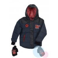 Zimná bunda a rukavice Cars , Velikost - 98 , Barva - Tmavo šedá