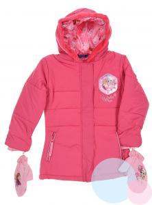 Zimná bunda a rukavice Frozen , Velikost - 110 , Barva - Malinová