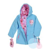 Zimná bunda a rukavice Frozen , Barva - Tyrkysová , Velikost - 128