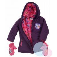 Zimní bunda a rukavice Tlapková Patrola , Barva - Fialová , Velikost - 98
