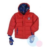Zimná bunda a rukavice Tlapkova Patrol , Velikost - 98 , Barva - Červená